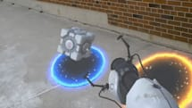 The HoloLens version of 'Portal' jumps right into the real world