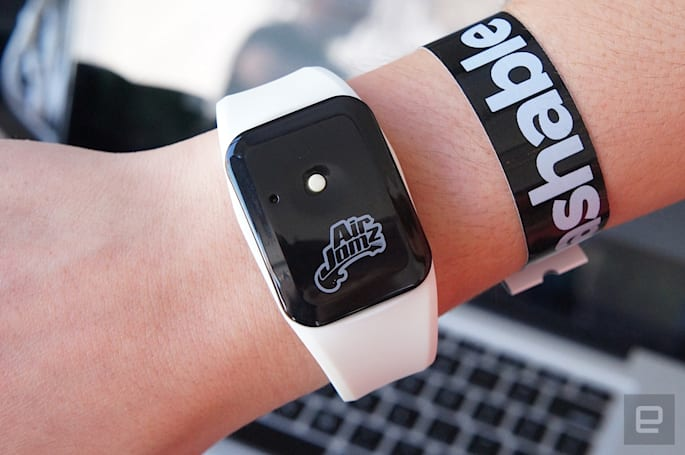 AirJamz is a wristband that turns air guitar into wear guitar