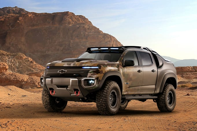 Chevy truck brings hydrogen fuel cells to the military