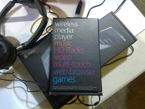 Zune HD box spotted?