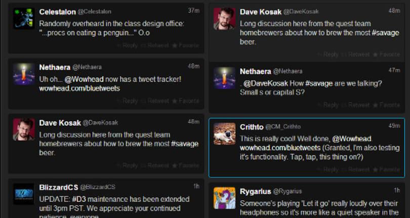 Wowhead launches blue tweet tracker