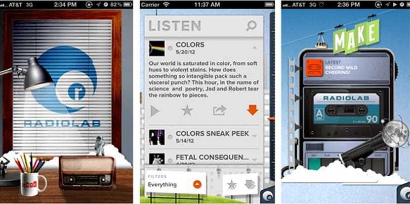 Radiolab releases Android, iOS app, invites you to join the sound collage