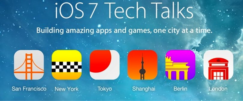 Apple announces tour schedule for iOS 7 Tech Talks