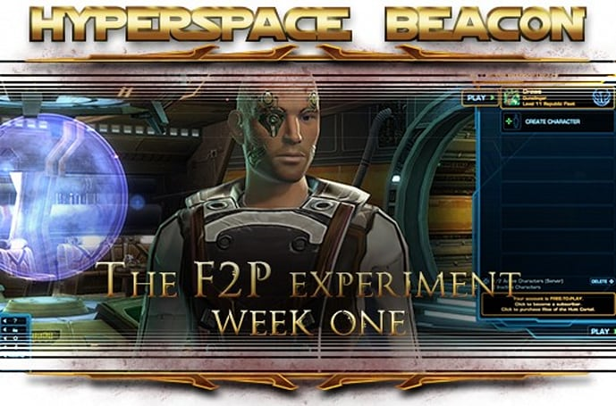 Hyperspace Beacon: The SWTOR free-to-play experiment, week one