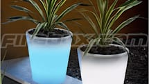 Solar-powered, glowing flower pot does just that