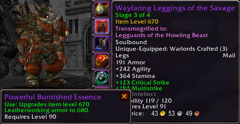Patch 6.1: Stage 4 upgrades for crafted gear, new alchemy trinket