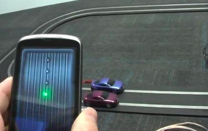 AIR for Android app turns Nexus One into slot car controller (video)