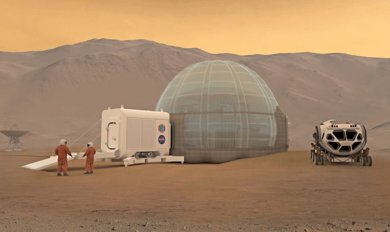 Donut-shaped ice shelters could shield astronauts on Mars