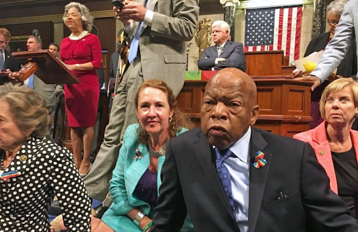 Democrats use Twitter to amplify House sit-in over gun control