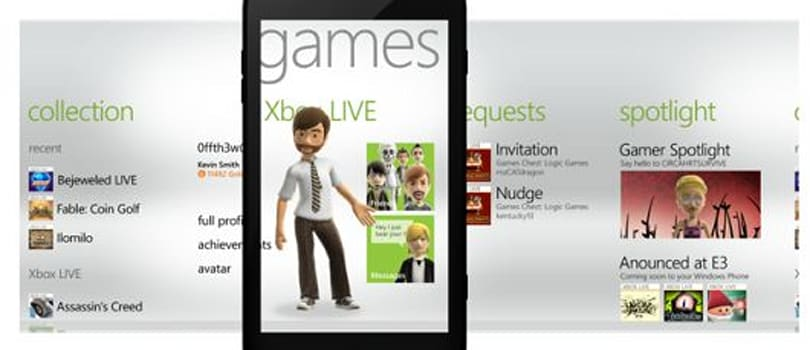 Microsoft shows off new Games Hub for Windows Phone 7 Mango
