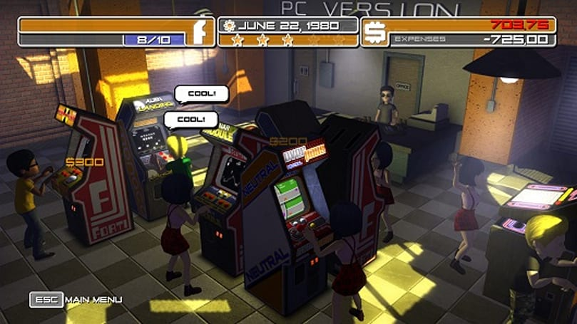 Arcade management sim Arcadecraft to find new quarters on PC