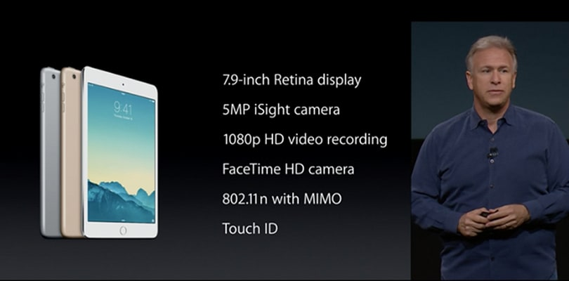 Apple announces the Retina iPad mini 3 with Touch ID, $399 price tag