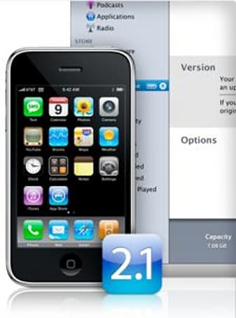 iPhone 2.1 firmware out now