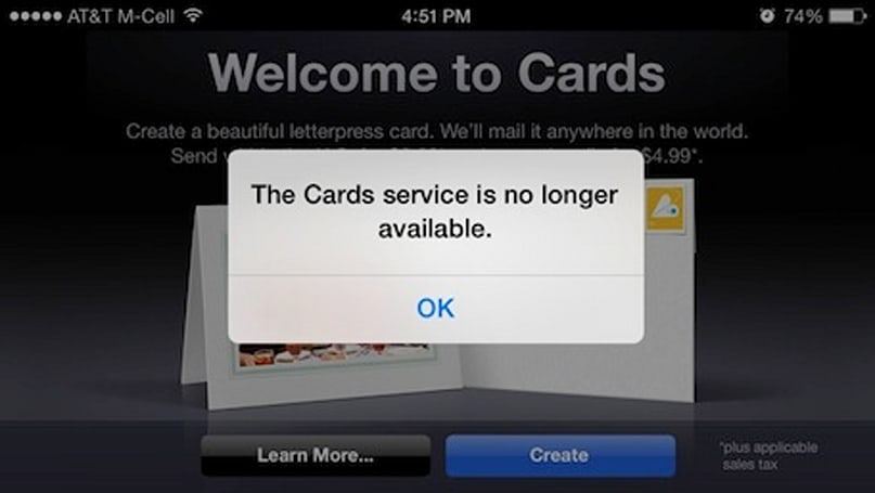 Apple quietly discontinues Cards app for iOS
