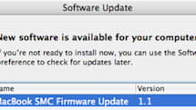 MacBook SMC Firmware Update 1.1