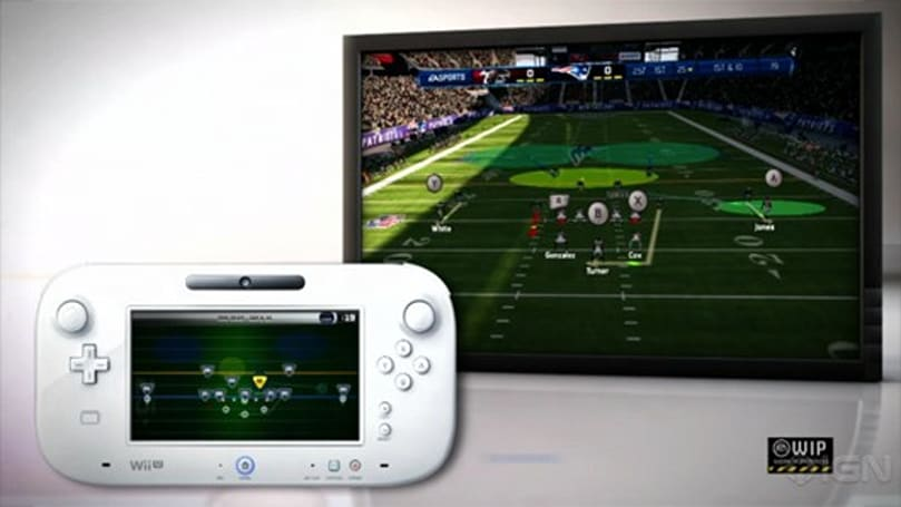 Madden 13 on Wii U features touch play-calling, hot routes