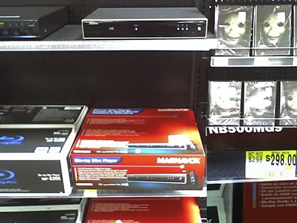 Funai's NB500 Blu-ray player sliding into Wal-Mart for $298