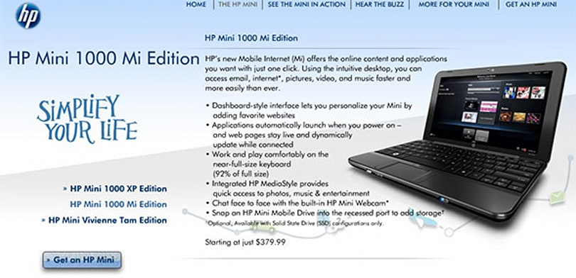 New HP laptop releases rumored, Mini 1000 Mi included