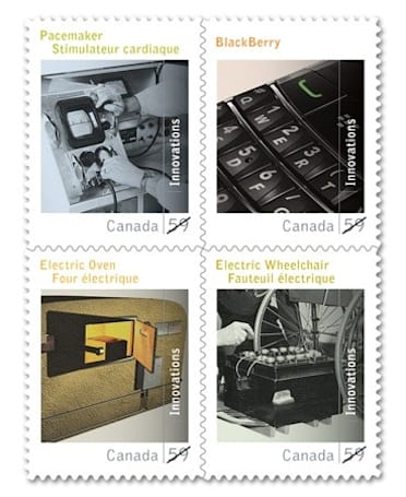Canada Post issues BlackBerry stamp, for your less urgent BBMs
