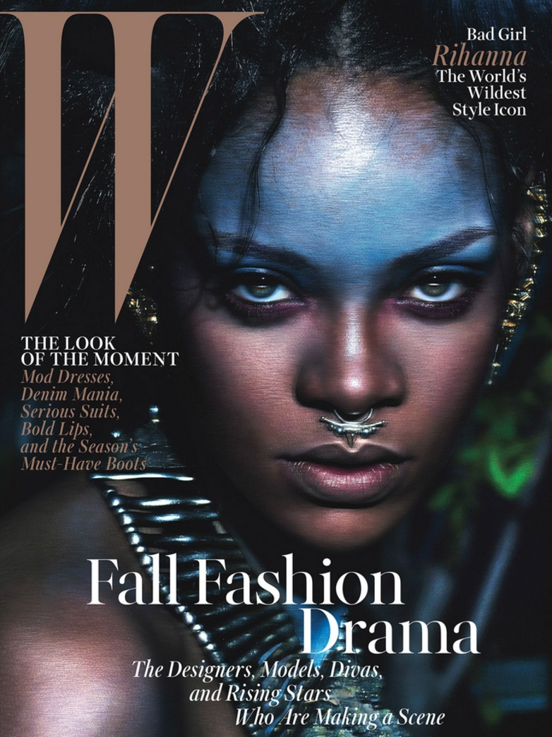 'Wild style icon' Rihanna stuns on the W September cover