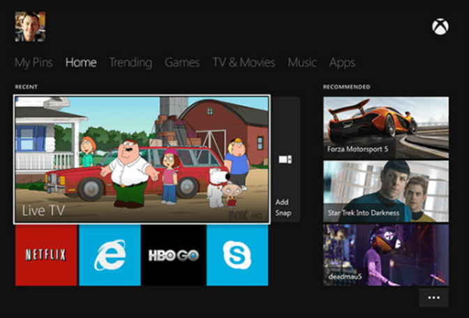 Xbox One interface shots show Netflix, Hulu, other streaming apps