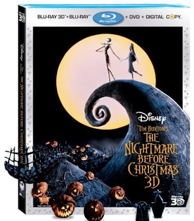 Tim Burton's The Nightmare Before Christmas 3D ships via disc or download in August