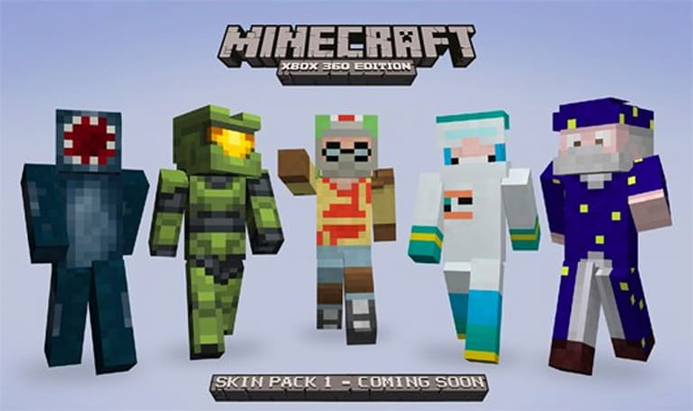 Minecraft XBLA Skin Pack also includes Master Chief