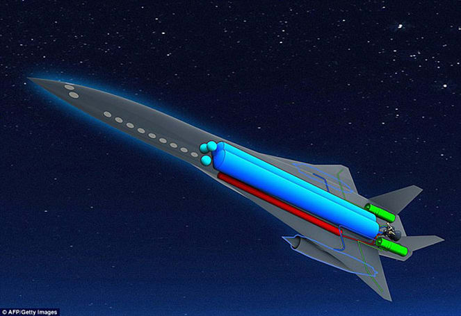 Hybrid rocket / seaweed jet ready to fly in 2050, keep emissions above ozone (video)