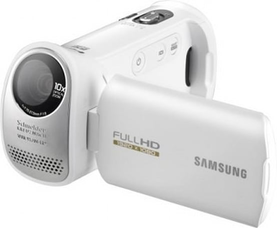 Samsung's HMX-T10 HD camcorder features a new perspective