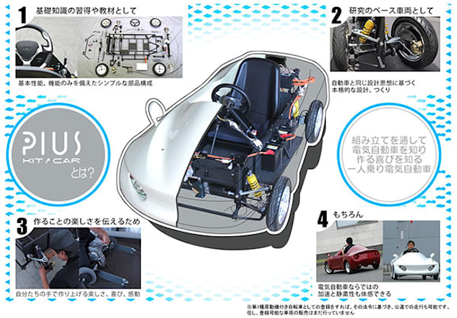 Japanese company releasing do-it-yourself Pius electric vehicle, name sounds vaguely familiar