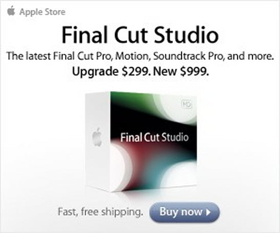 Final Cut Studio update supposedly due next year