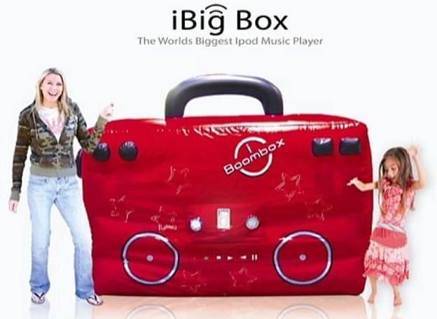 "The iBig Box inflatable ""Ipod"" player makes us long for the sweet release of death"
