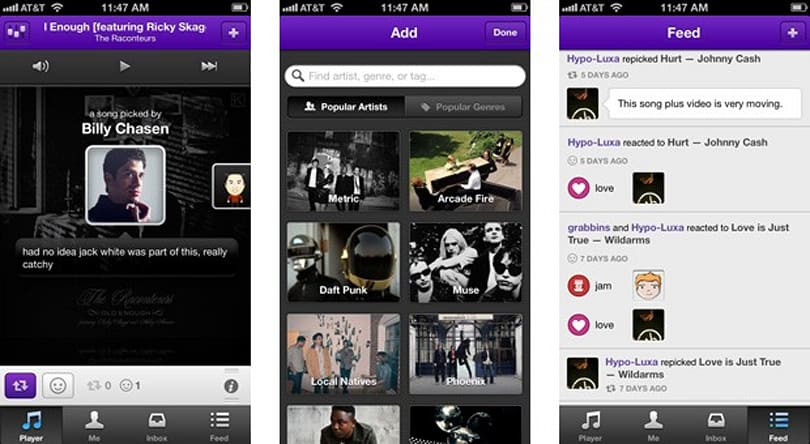 Turntable.fm's Piki for iOS shapes streaming music around friends' tastes