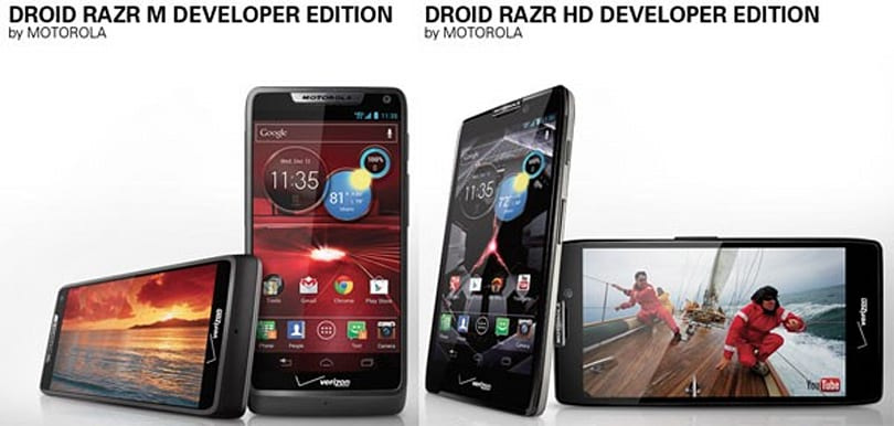 Droid RAZR M and HD dev editions bring unlockable bootloaders to the Android party