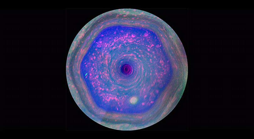 Visualized: Saturn's relentless 'hexagon' storm