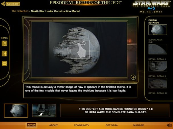 Star Wars Blu-ray extras revealed early by iOS app launching at Comic-Con