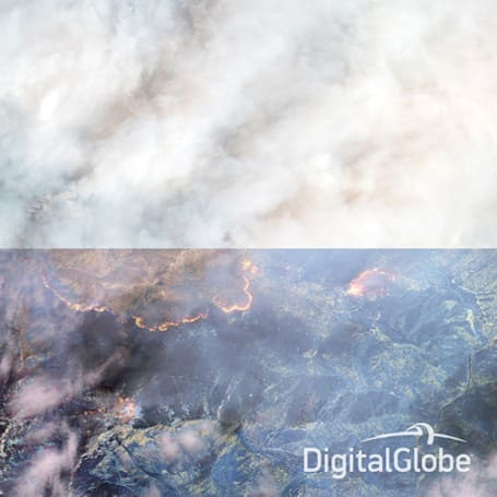 The Big Picture: Infrared satellite images reveal the true extent of a forest fire