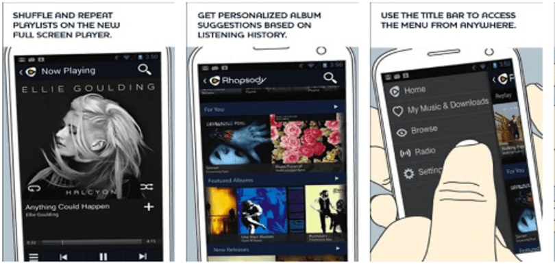 Rhapsody announces redesigned Android app, adds new Replay feature