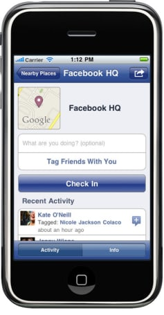 Facebook Places location check-in with Foursquare, Yelp, and Gowalla support arrives on iPhone