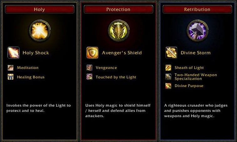 Cataclysm Beta: New talent trees for paladins