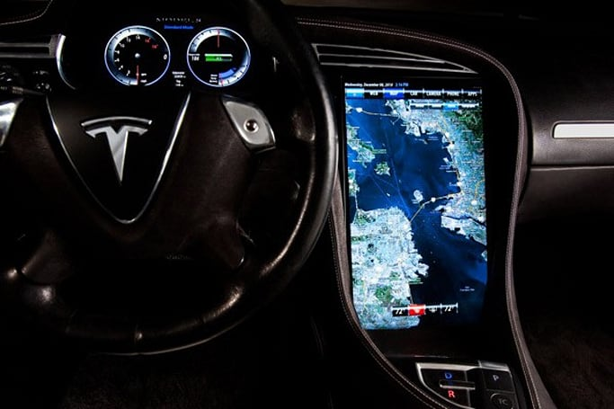 Tesla Model S to have 17-inch infotainment console powered by Tegra; BMW using NVIDIA tech too