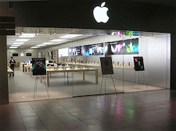 Apple Stores have no gift registries. Bummer.