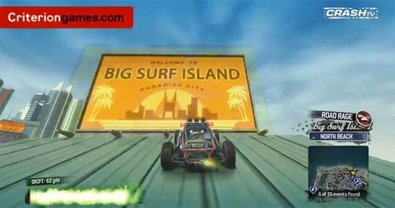 Criterion Games takes us on a tour of Burnout Paradise's Big Surf Island