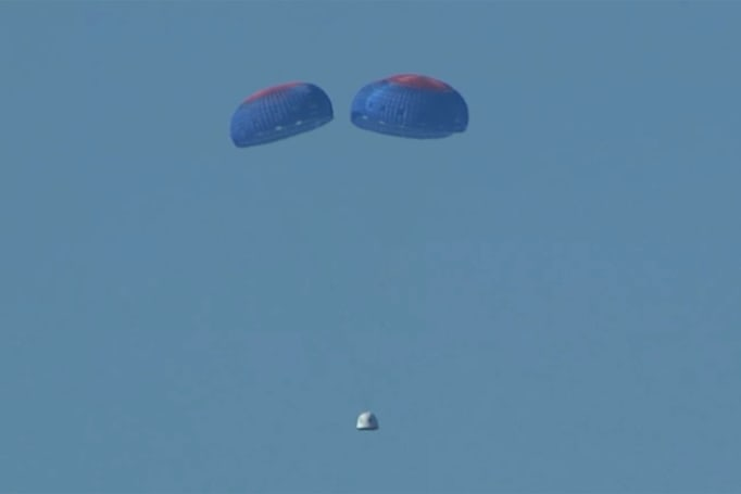 Blue Origin successfully tests its crew escape system