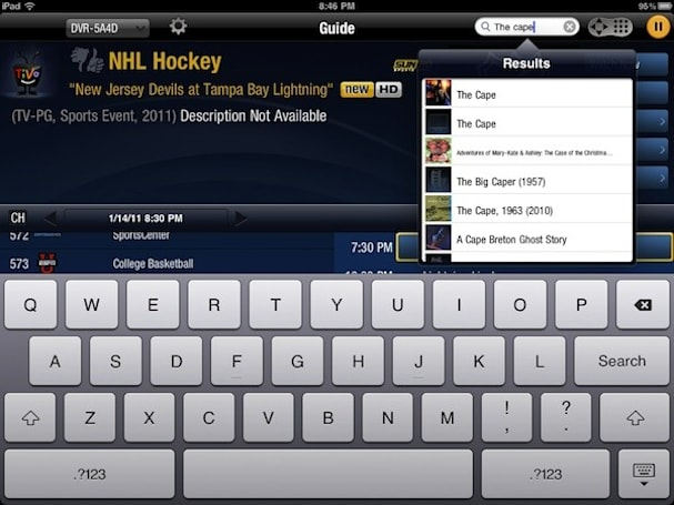 App Review: TiVo Premiere for iPad
