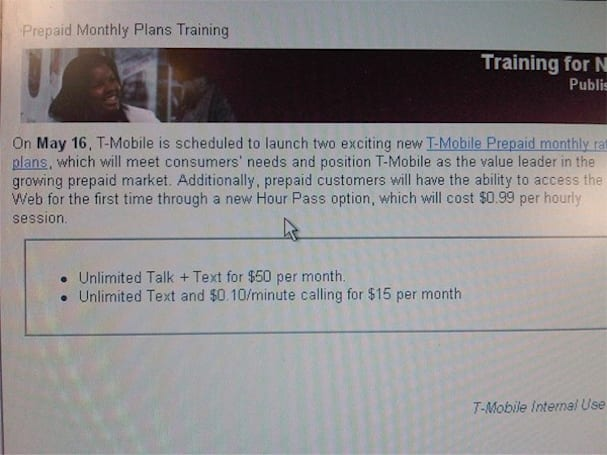 T-Mobile getting new prepaid, hourly data access options next month?