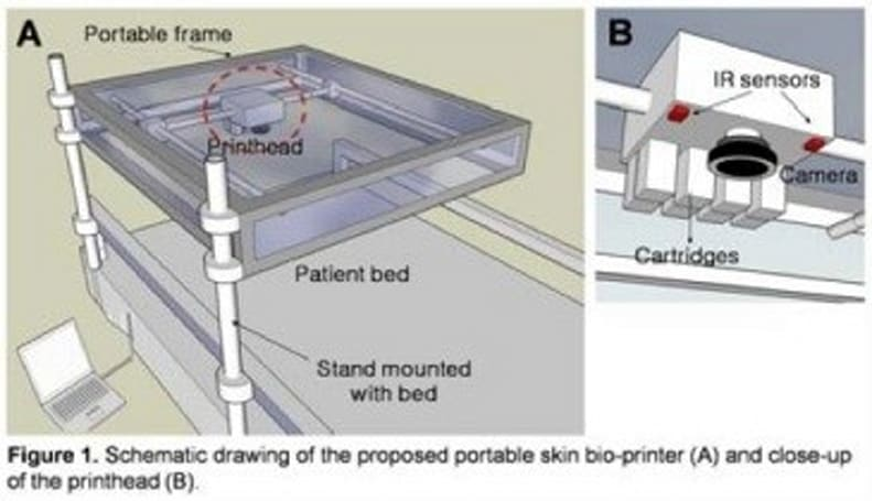 Researchers tout progress with 'skin printers,' hope to one day treat battlefield wounds