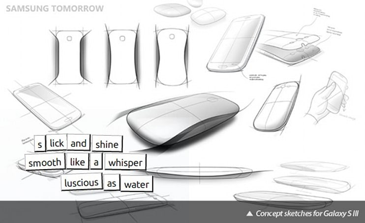 Samsung discusses Galaxy S III design using the language of Magnetic Poetry