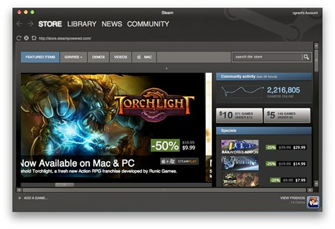 Steam for Mac now available, 57 launch games including free Portal, and LucasArts classics