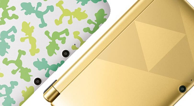 Zelda's Triforce and Luigi's silhouette grace two new 3DS XL handhelds headed to Europe